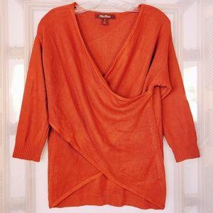MaxMara Studio Criss-cross Silk Cashmere Sweater